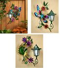 Solar Lighted Wall Light Lantern Patio Deck Fence Yard Garden Decor - Choose one