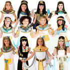 Ancient Egyptian Girls Fancy Dress Queen Cleopatra Egypt Childrens Kids Costumes