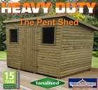 12x8 HEAVY DUTY Pent Tanalised garden Shed Fully T&G Tanalised Top Quality