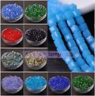 Wholesale 25/100pcs 6mm Cube Square Faceted Crystal Glass Loose Spacer Beads Lot