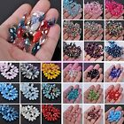 Wholesale Teardrop Faceted Crystal Glass Loose Spacer Beads Lot Bulk DIY 16X8mm