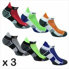 3 x Norfolk Mens Running Socks, Ankle Length, Padded, Cushioned, Trainer -Owens