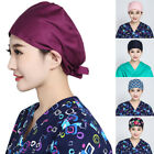 Pop Surgery Cap Unisex Doctor Nurse Surgery Hat Dentist Uniform Cap Print/Solid