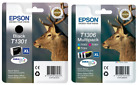 Epson T1306 3 Colour Multipack Ink & 1 x T1301 Black Ink {Genuine & Boxed}