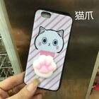 3D Squishy Lazy Cat Panda Case Soft Silicone Stress Relief for iPhone 8 7 Plus