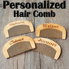 Personalized Wooden Rustic Hair Comb Bridesmaid Groomsmen Birthday xmas gift