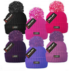 ROCKJOCK LADIES WOMEN GIRLS WINTER WARM THERMAL INSULATION POM POM BOBBLE HAT
