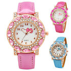 Fashion Hello Kitty Wrist Watch Girl Teens Kids Cartoon Quartz Analog Watches