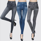 Sexy Women Jean Skinny Jeggings Stretchy Slim Leggings Skinny Pants US Stock