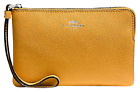 New Coach Corner Zip Wristlet F64233 F54626 Signature And Leather With Gift Box