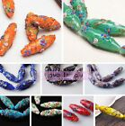 1pcs Big Exquisite Rugby Flower Lampwork Glass Loose Spacer Beads Jewelry Making