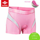 Santic Cycling Bike Underwear Women Breathable 3D Paded Comfortable Short Pink