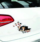 Us Ship 3D beauty eyes Car stickers block scratches creative tail stickers