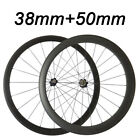 1334g 38+50mm Tubular Racing Touring Novatec 271/372 Hub Standard Wheel Wheelset