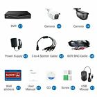 SANNCE 5IN1 8CH DVR 1080P HDMI Outdoor IR Night CCTV Security Camera System US
