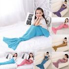 Childrens Fish Tail Mermaid Cocoon Blanket Lounge Gift Present Girls Boys Kids❤❤