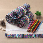 Colored Arts Painting Drawing Pencil Case Ethnic Roll Up Bag Holder Storage