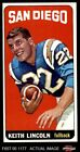 1965 Topps #165 Keith Lincoln Chargers EX $28.5 USD