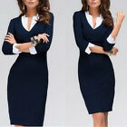 Womens Ladies Office Formal Business Casual Celeb Party Career Pencil Slim Dress