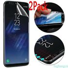 2 Pack Clear Soft TPU Cover Screen Protector  For Samsung Galaxy S8 &S8 Plus