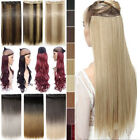 """17""""-30"""" One PC Clip in Hair Extensions Straight Curly Wavy 100% New US STOCK tbt"""