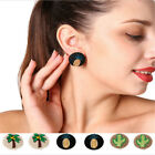 Fashion Women Girl Student Embroidery Hook Charm Ear Stud Earrings Clip Jewelry