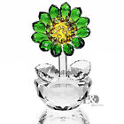 Crystal Rose Flower Ornament Paperweight Glass Home Decor Craft Xmas Gift Boxed