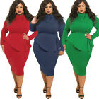 Big Plus Size 2018 Hot African Women Bow Collar Party Bodycon Maxi Bandage Dress