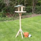 Premium Wooden Bird Table & Stand Traditional Feeding Station