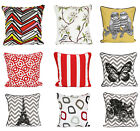 ADAMS DECOR THROW PILLOW CASE GEOMETRIC STRIPED FLOWER HOME SOFA CUSHION COVER