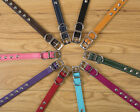 STUDDED LEATHER DOG COLLARS AND LEADS VARIOUS SIZES AND COLOURS MADE IN THE UK