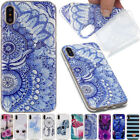Ultra Thin Clear Soft TPU Silicone Cover Pattern Case For iPhone Huawei Phone
