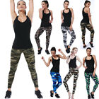 Women Camouflage Pants High Waist Stretch Leggings Sports Pencil Trousers NIce