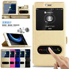 For Huawei P9 lite mini Slim Flip Leather View Window Magnetic Stand Case Cover
