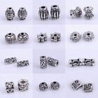 Wholesale 50/100pc Tibetan Silver Tube Loose Spacer Beads Jewelry Makings Diy