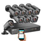 ANNKE 1080P HDMI HD-TVI 8CH DVR 720P IR CUT CCTV Security Camera System 1TB US