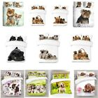 UK Made 3D Puppy Dog Design Photo Digital Duvet Quilt Cover With Pillowcases
