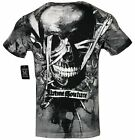 XTREME COUTURE by AFFLICTION Men T-Shirt INFERNO SKULL Tatto Biker MMA UFC $40