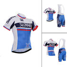 Mens Cycling Short Sleeve Set Bike Bicycle Suit Jersey Bib Shorts Outfits Pad