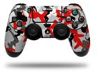 Skin for Sony PS4 Controller Sexy Girl Silhouette Camo Red WraptorSkinz Wrap