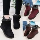 snow boots for ladies - Ladies Winter Warm Comfort Furry Lining Flat Soft Snow Boots Gift for Mother