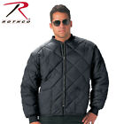 Rothco Diamond Nylon Quilted Flight Jacket Men's in Black or Navy #7230 NWT