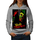 Wellcoda 420  Weed Rasta Womens Hoodie, Reggae Casual Hooded Sweatshirt