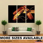 3 Panel Canvas Picture Print - Vintage hollow body electric guitar 3.2