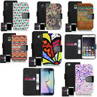 pu leather wallet case for iphone & other mobiles devious motif