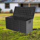 Panana Garden Plastic Storage Chest Outdoor Waterproof Cushion Shed Box Wheels