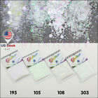 Mix Dust Glitter Strips White Series Nail Eye Shadow Craft Iridescent Cosmetic