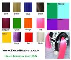 Custom (2 Color) Motorcycle Helmet Pigtails for  Team, School & More....USA Made