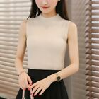 Knitted Vest Women Slim Sleeveless Blouse Shirt Female Tops Sexy Clothing Tees