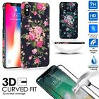 Women iPhone X / 8 / 8 Plus/ 7/7 Plus Case +Full Tempered Glass Screen Protector